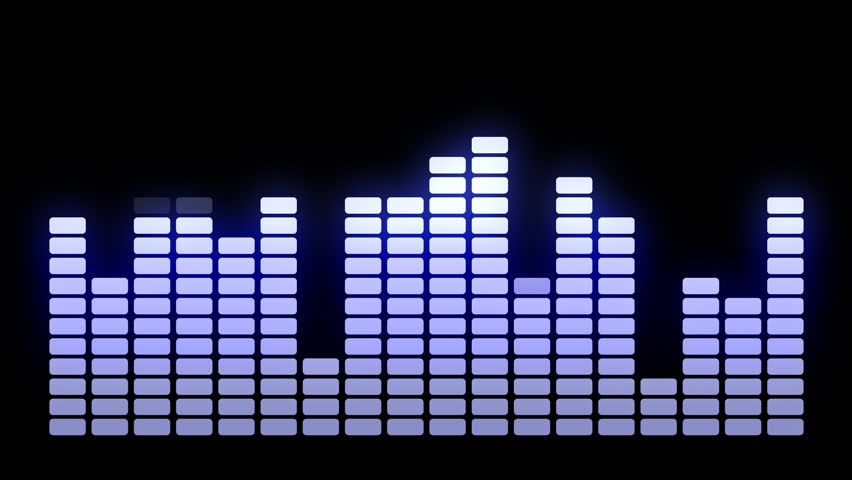 Colorful Musical Bar Showing Volume Stock Footage Video ...