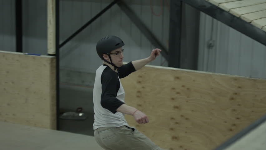 extreme sport skateboarding indoor skate park athlete doing awesome tricks on board 4k stock awesome office table top view shutterstock id