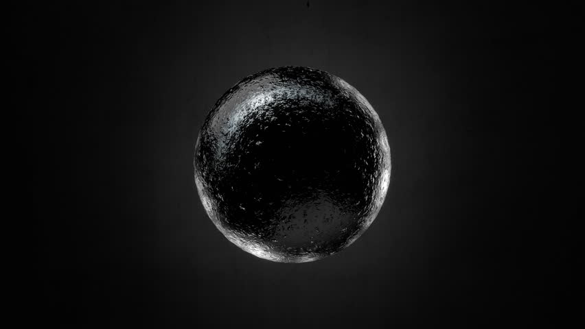 Abstract Black Textured Sphere Object Looping with Alpha Matte 4K 4096x2304 - the 4K resolution allows you to crop in closely, when placed into HD or SD video projects, without the need for scaling | Shutterstock HD Video #9269585