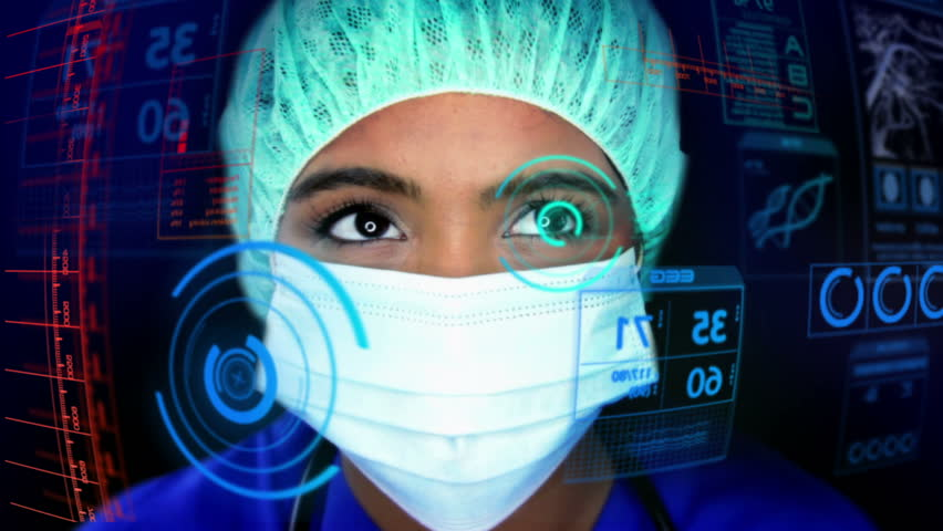 Medical Motion Graphics research HUD doctor Chinese technology analysis health