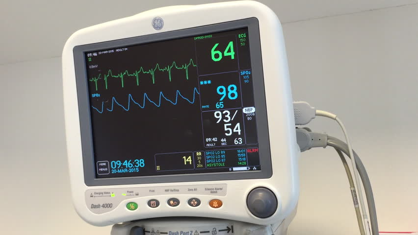 Ecg Monitor Patient's Condition In Operating Room,close Up ...