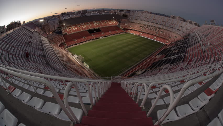 VALENCIA, SPAIN - SEPTEMBER 14: 4K Ultra HD Time lapse of the Mestalla Stadium during Spanish League match between Valencia C.F. and C.D. Espanyol on September 14, 2014 in Valencia, Spain