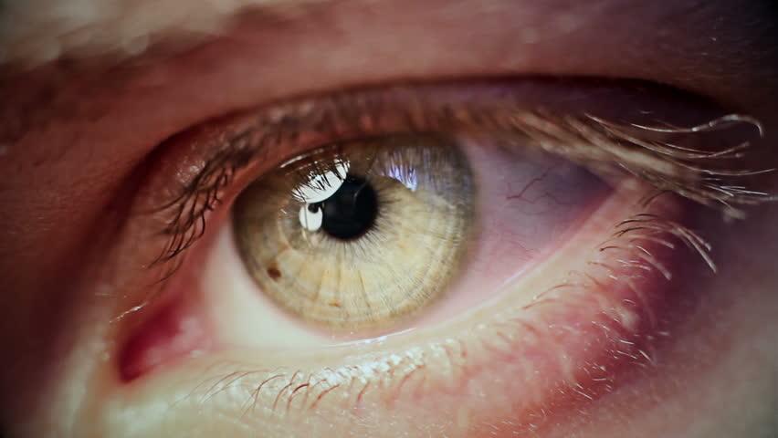 Macro Eye Iris 10 - HD stock video clip