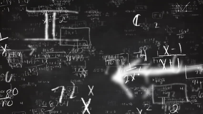 School Math Equations on Chalkboard Flyby Loop | Shutterstock HD Video #9334754