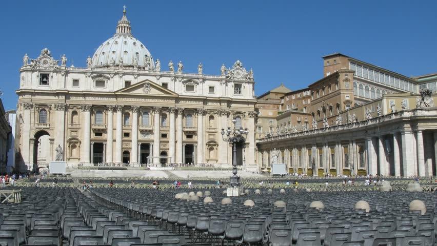 San Pietro church, Rome, Italy. Time lapse. - HD stock footage clip
