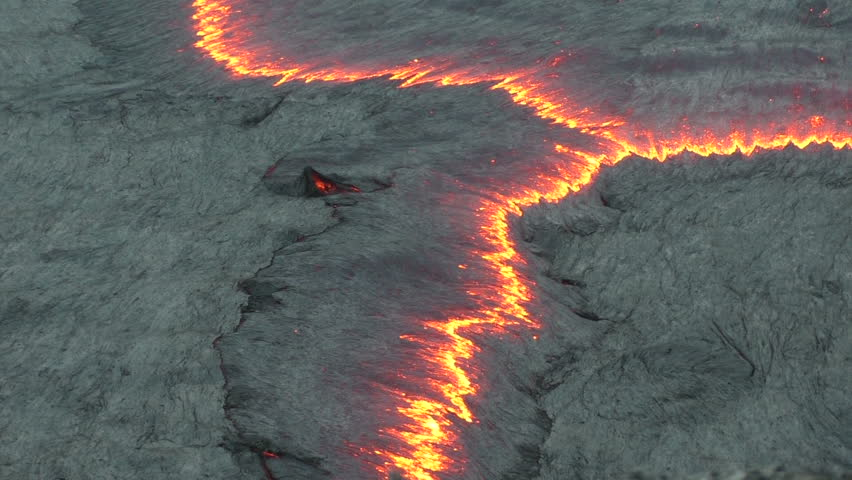 Lava flow of Volcano Erta Ale, Ethiopia