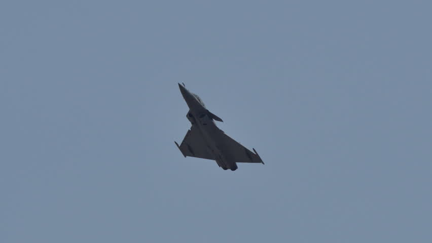 LANGKAWI, MALAYSIA - MARCH 16: Dassault Rafale Aircraft display the show in LIMA 2015 at Langkawi Malaysia on 16 March, 2015