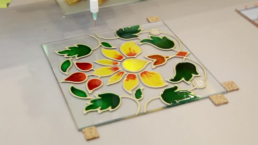 glass painting machine
