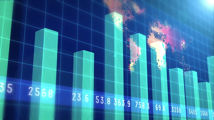 Financial chart and stock market bar chart for use as  financial report and stock market presentation | Shutterstock HD Video #9689327