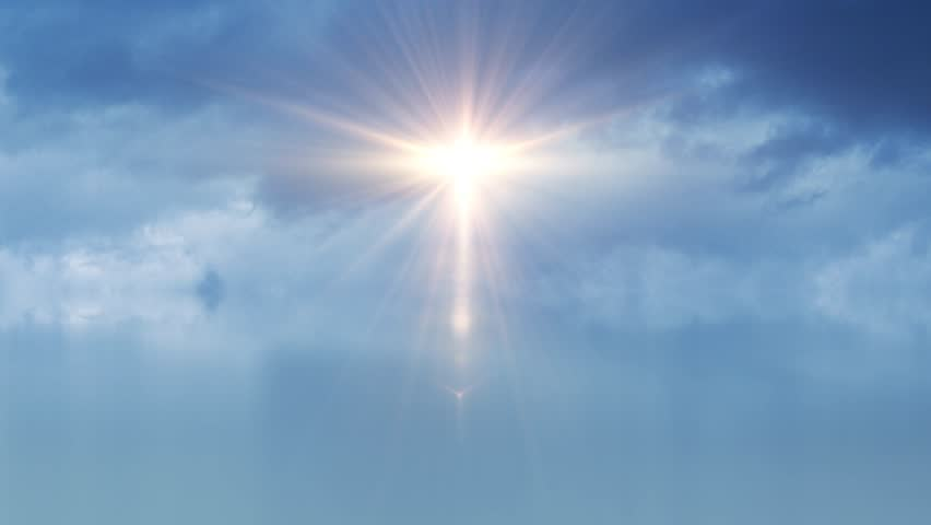 Heavenly Blue Sky Clouds Angel Light  Hdfootagestockcom-1680