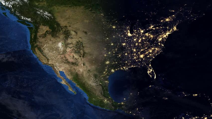 Night Cities From The Satellite Europe NASA