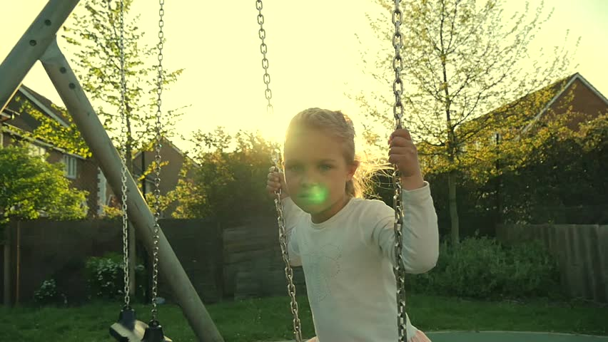 little girl in playground  - HD stock video clip