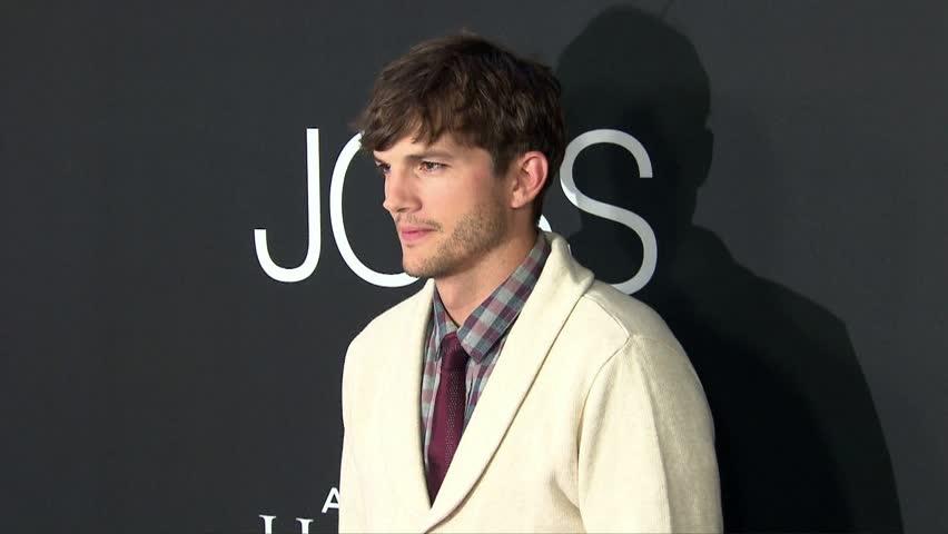 Los Angeles, CA - August 13,2013: Ashton Kutcher at Jobs Premiere, Regal Cinemas LA Live