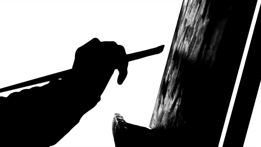 Paints Drawing Black And White