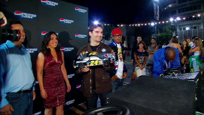 Hollywood, CA - August 27,2008: Jeff Gordon at Pepsi 500 Running Wide Open Party, Avalon - HD stock video clip