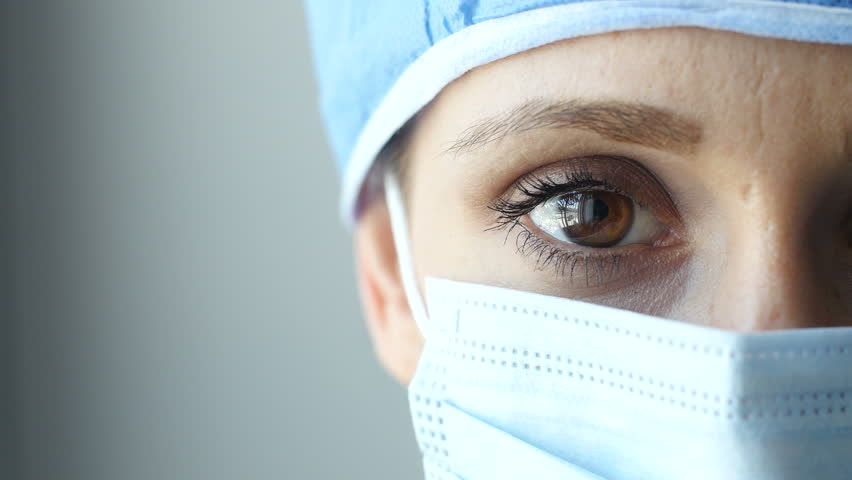 Close up of a female surgeon's eye | Shutterstock HD Video #9871001