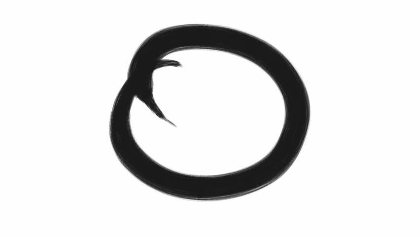 Calligraphy Motion Design Elements Black Circle Paint