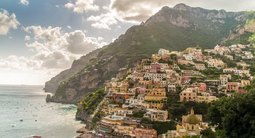 Amalfi Positano Italy Travel Tourism Mediterranean Sea Coast Water Europe Landscape Village Architecture Italian Summer Town Campania Beach Mountain Vacation Naples Rock View Famous  #9908594
