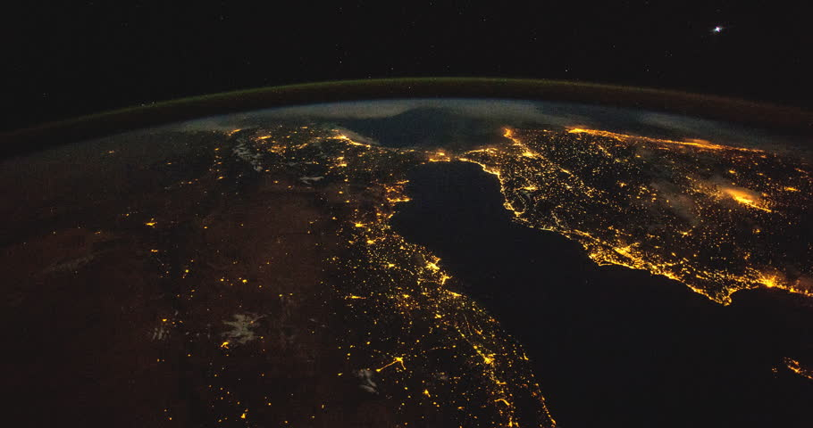 Over the Mediterranean and Europe: Planet Earth our mother home seen from space or the International Space Station ISS. Elements of this images furnished by NASA on April 24,2015 #9931724