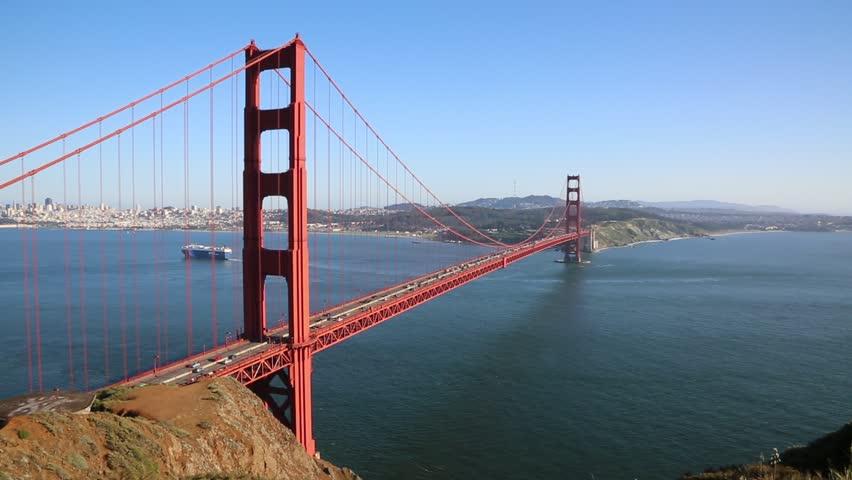 Golden Gate Bridge - San Francisco, California - HD stock video clip