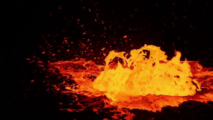 Lava bubbles of Erta Ale volcano, Ethiopia