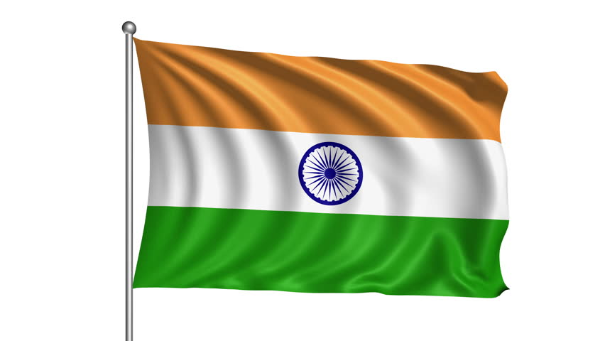 Indian Animated Flag Waving: India Stock Footage Video 8255797